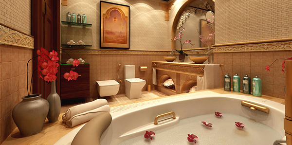 How to decorate a large bathroom for better function and - How to decorate your bathroom ...