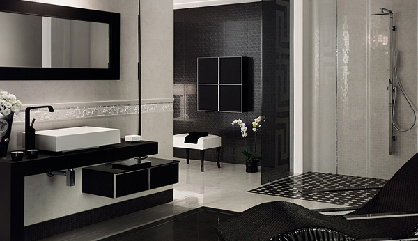 Elegant Vanity Sets And Bathrooms From Versace Home Tiles