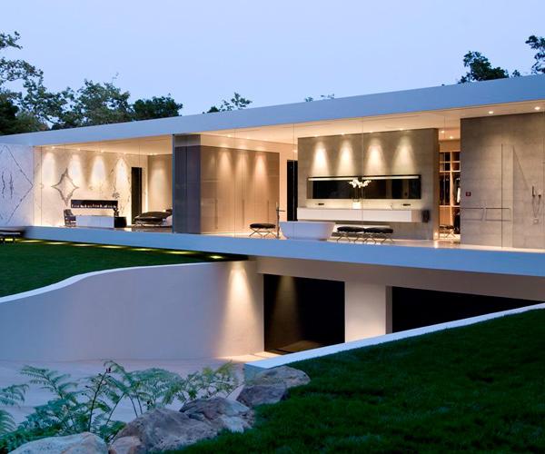 Glass Pavilion House Front