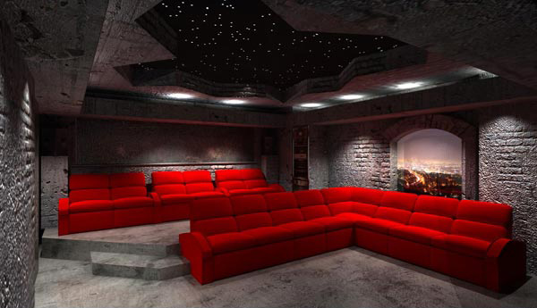 12 truly entertaining home theater designs home design lover - Interior design for home theatre ...