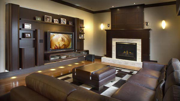 Truly Entertaining Home Theater Designs Home Design Lover - Living room with home theater design