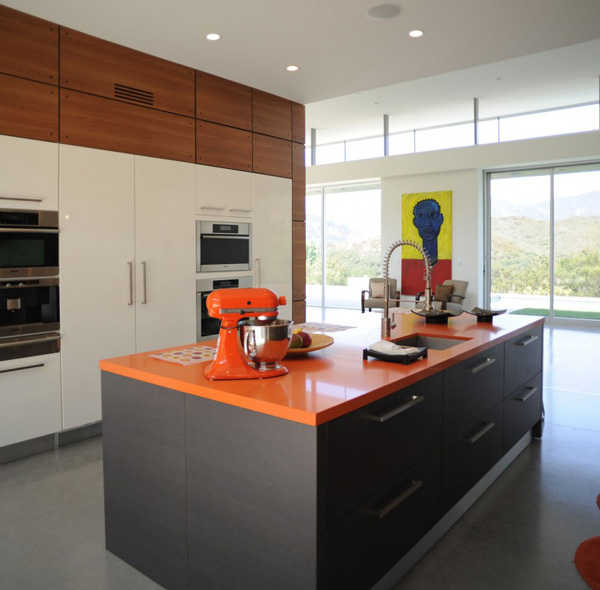 orange kitchen countertop