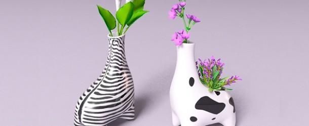 animal inspired vases design