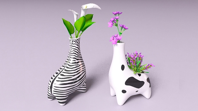 animal inspired vases design