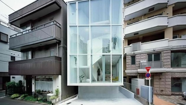 the spiral house in tokyo japan