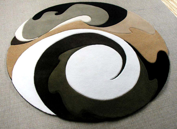 15 geometrical and artisitc modern round area rugs home for Round contemporary area rugs