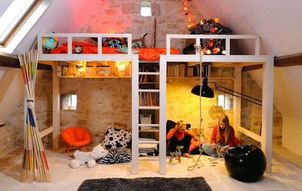 Mezzanine Bed Design kid's bedroom furniture: exciting loft bed designs | home design lover