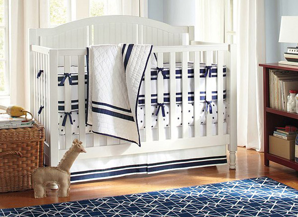 Navy Harper Baby Nursery