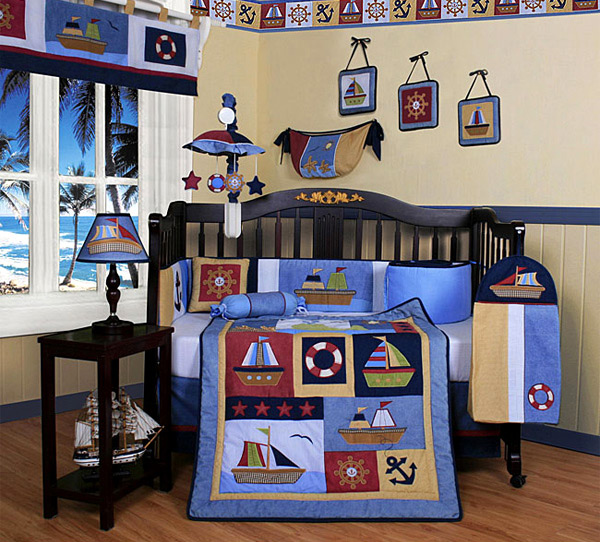 Your Little Boy May Love These Sailor Inspired Items, So Show It To Him By  Having This Room.