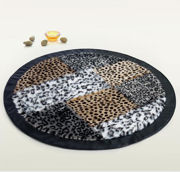 fur print rug
