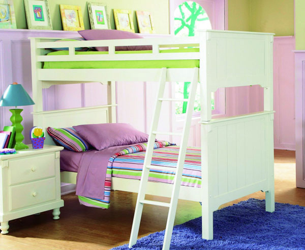 feminine Bunk Bed White
