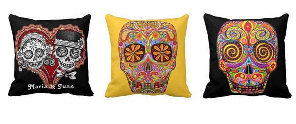 Artistic Skull Pillows