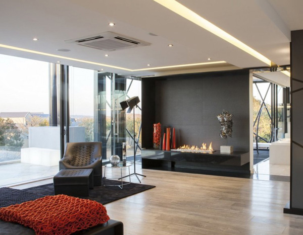 fireplace modern design