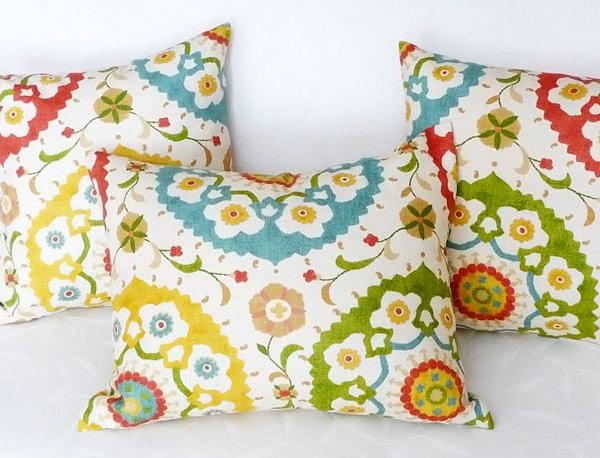 Colorful Suzani Throw Pillows