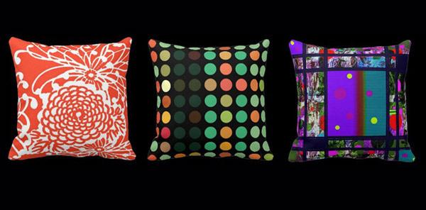 Abstract Retro Throw Pillows