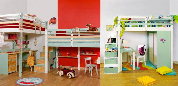 kid 39 s bedroom furniture exciting loft bed designs home. Black Bedroom Furniture Sets. Home Design Ideas