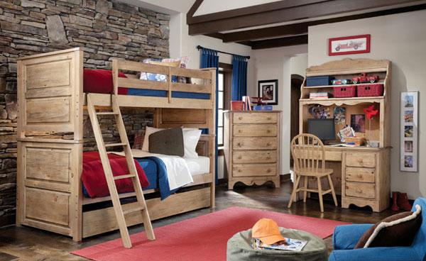 Kid\'s Bedroom Furniture: Space Saving Bunk Beds | Home Design Lover