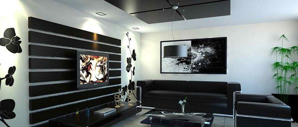 20 modern contemporary black and white living rooms home for Salon en noir et blanc