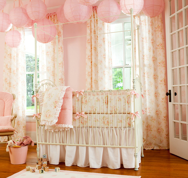 Girly Pink Nursery Decor