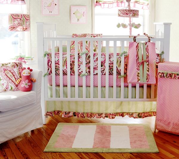 Paisley Splash Baby Pink