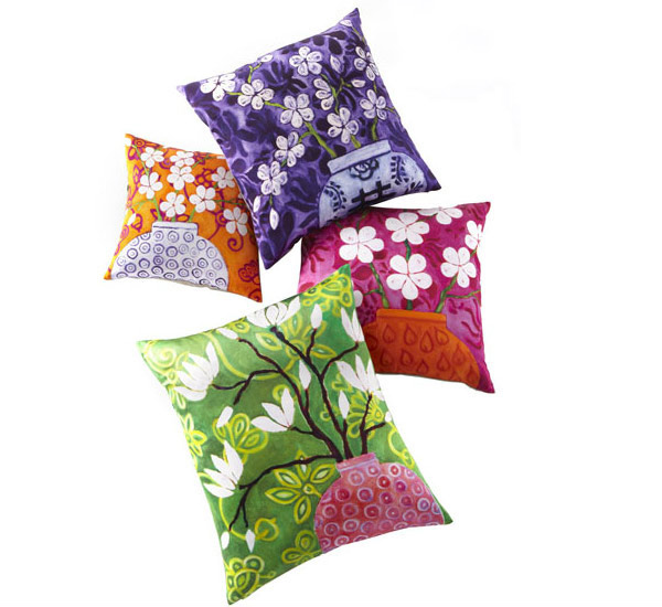 Colorful Floral Pillows