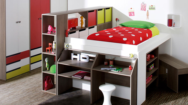 kids bedroom furniture loft bed design