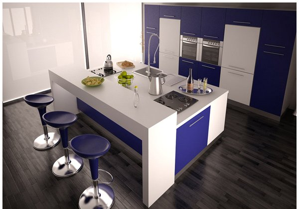 Modern bar kitchen design