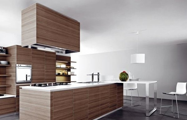 20 sleek and natural modern wooden kitchen designs home for Natural wood kitchen designs