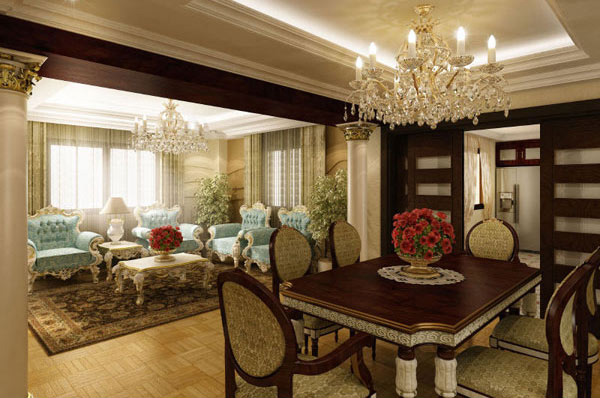 20 fabulously attractive classical dining room designs for Interior design for dining area