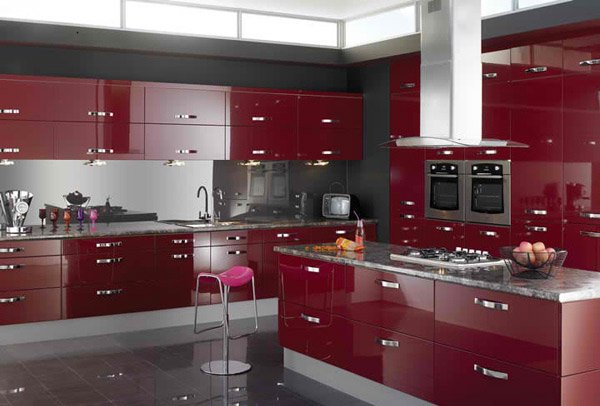 Stunning Red Kitchen Ideas Home Design Lover - Red and grey kitchen cabinets