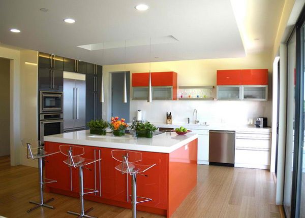 colorful kitchen ideas. Beautiful Kitchen Orange And Light Yellow And Colorful Kitchen Ideas I