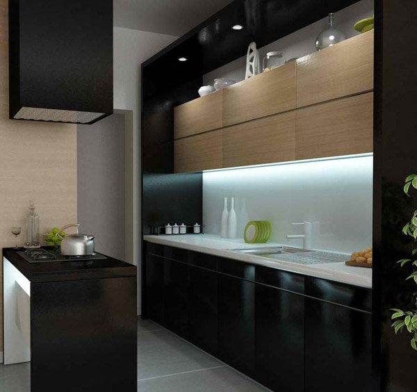 kitchen design black and silver 15 bold and black kitchen designs home design lover 863