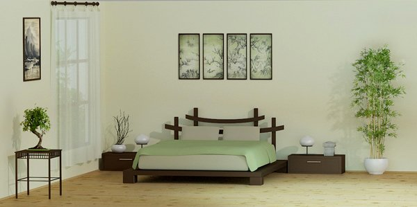 20 rejuvenating zen bedrooms for a stress free ambience for Chambre a coucher japonaise