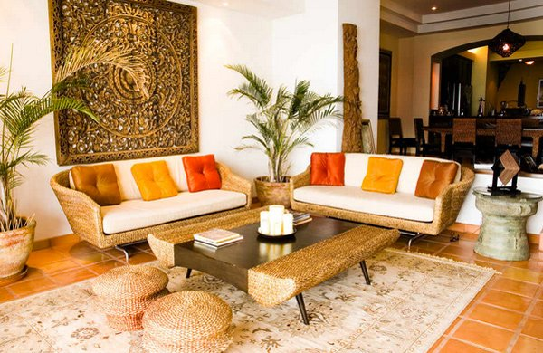 Asian modern living room