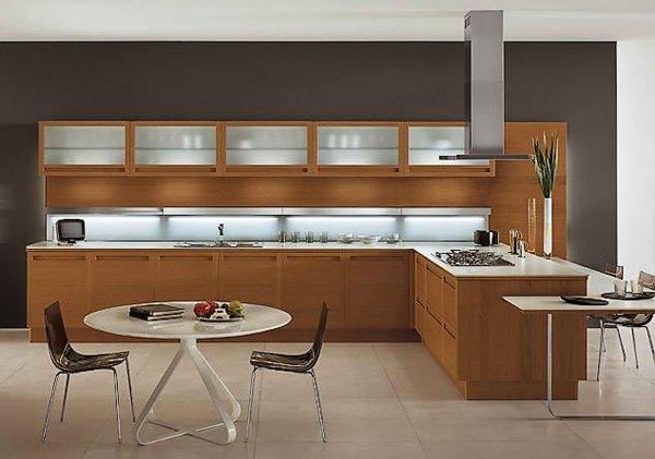 Pleasing 20 Sleek And Natural Modern Wooden Kitchen Designs Home Home Interior And Landscaping Oversignezvosmurscom