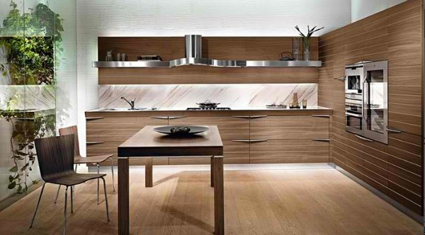 Modern Wooden Kitchen. Lucci Orlandini Design