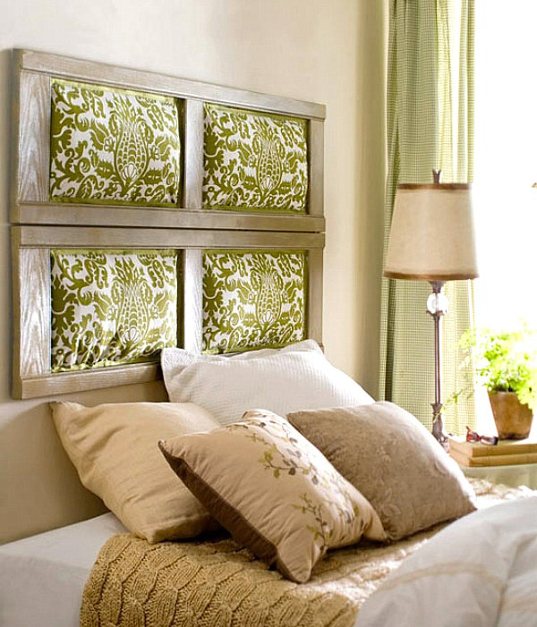 Creative Headboard Ideas Part - 19: Upholstered Shutter Headboard