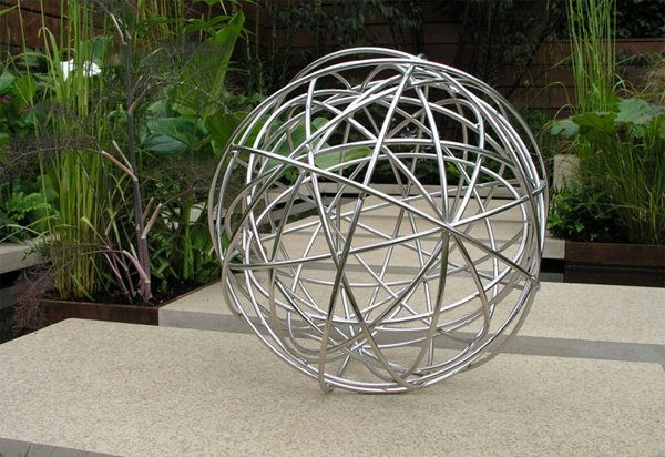 spherical garden sculptures