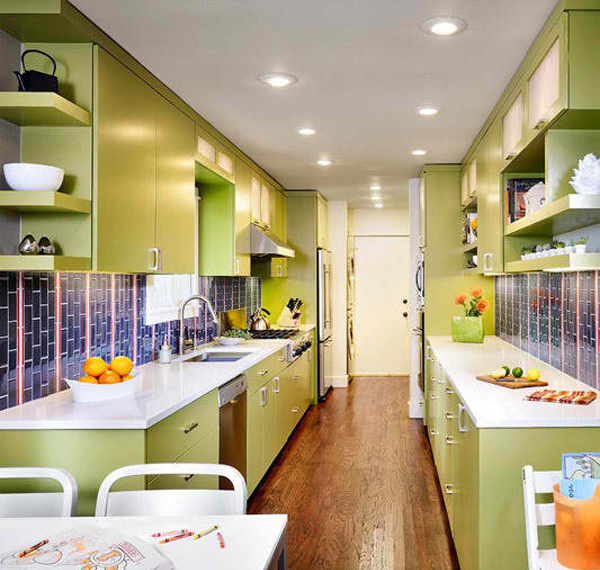 15 amazingly homey green kitchen designs home design lover for Home design kitchen decor