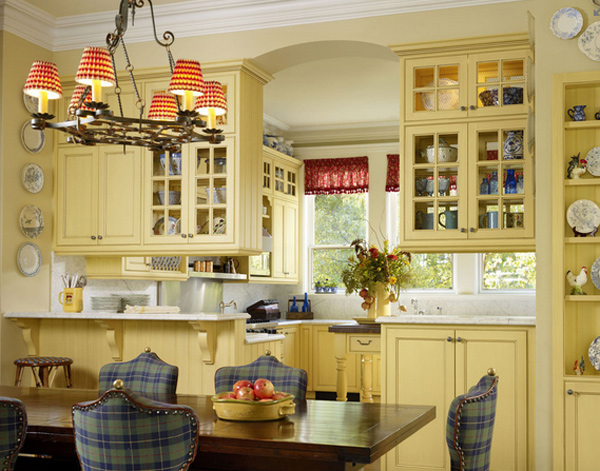 traditional yellow kitchen