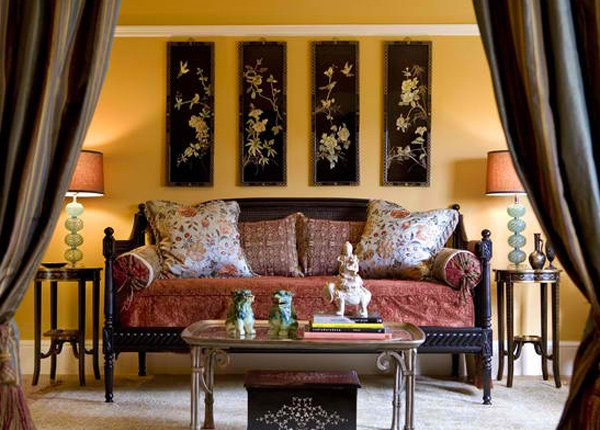 A showcase of 15 modern living room designs with asian for Oriental sofa designs