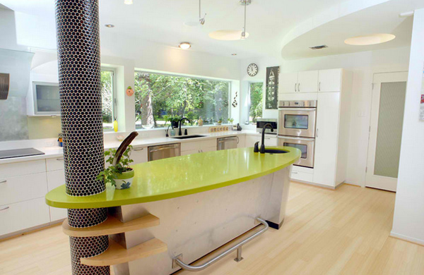 olive green countertop