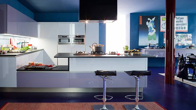 15 amazingly cool blue kitchen ideas home design lover. Black Bedroom Furniture Sets. Home Design Ideas