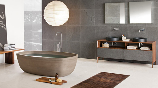 a relaxing contemporary bathroom designs