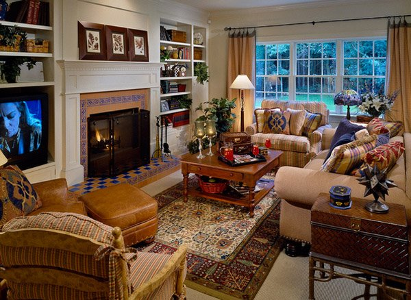15 Warm and Cozy Country Inspired Living Room Design Ideas | Home ...