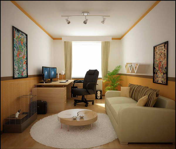 20 small living room ideas home design lover for Pictures of living room designs for small houses