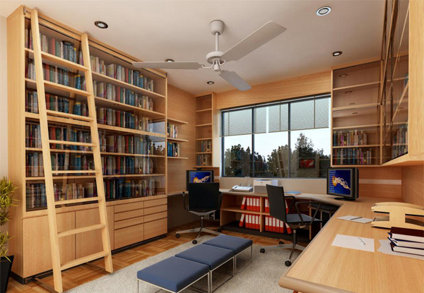Get good working ambience with these 20 home office ideas Small library room design ideas