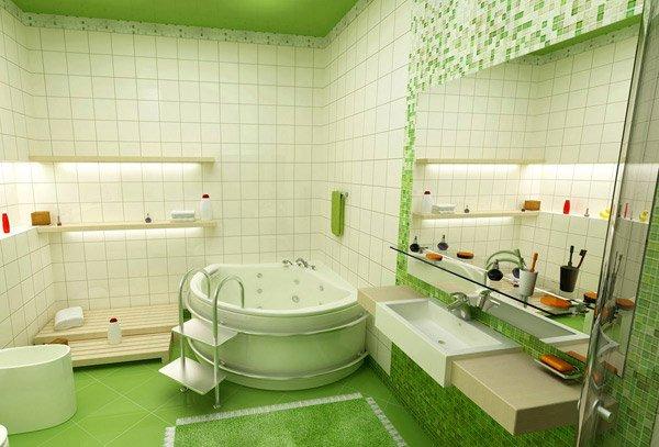 green kids bathroom
