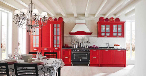 15 lovely and warm country styled kitchen ideas home design lover. Black Bedroom Furniture Sets. Home Design Ideas