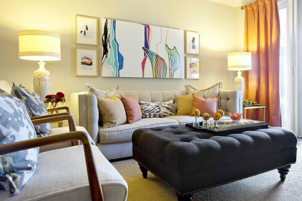 Domicile Interior Design. A Chic Living Room. Small ...
